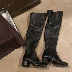Gucci never been worn thigh high boots